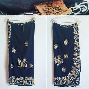 Vintage Wrap Floral Skirt